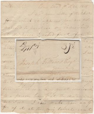 "Stampless ""War Rate"" letter from a land owner in Prince William County, Virginia offering to..."