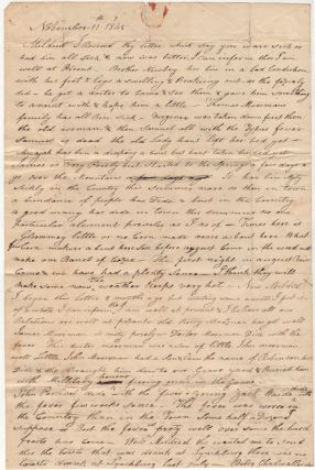 Letter recounting the deaths from Typhus Fever in Lynchburg, Virginia during the summer of 1845
