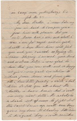Civil War letter from Union soldier besieging Petersburg, Virginia describing shelling by...