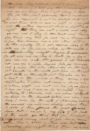 Civil War soldier's letter from an atrocious speller describing the layout of the massive...