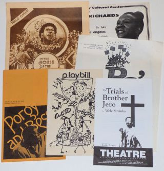 Small collection of programs and advertising flyers from regional African-American theater...
