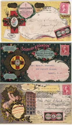 "The pinnacle of postal advertising: three end-of-the-19th Century Seabury & Johnson 'all-over""..."