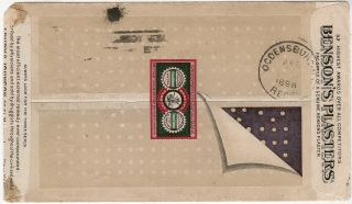"The pinnacle of postal advertising: three end-of-the-19th Century Seabury & Johnson 'all-over"" multicolor illustrated advertising envelopes"