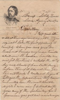Two letters from a Minnesota militiaman who fought against the Sioux follow their barbarous attacks upon settlers and witnessed the hangings of the warriorswho had committed the worst atrocities