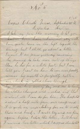 Exceptionally scarce, poignant, and historically significant Civil War letter from a...