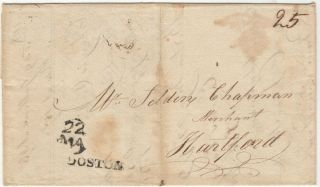 Mailed invoice for shipping five hogsheads of rum delivered by the New England slave ship, Sloop Rising Sun, on the rum-delivery leg of a triangle-trade voyage to the West Indies and Africa
