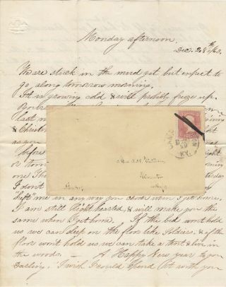 A risqué letter to a married woman from a white Union soldier (presumably from her husband), who...