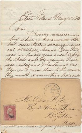 A letter from a Union soldier from Massachusetts stationed at one of the main colonies of escaped...