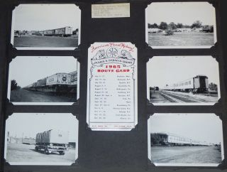 Large album filled with photographs and ephemera from fifteen different circuses compiled by a press agent and his colleagues during the 1965 touring season