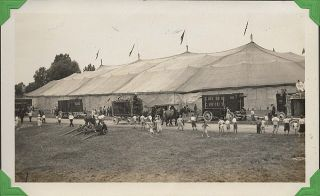 Large photograph album documenting life in the Cole Brothers and Dailey Brothers Circuses during...
