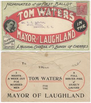 Small packet material relating to Tom Water's piano-comedy, The Mayor of Laughland