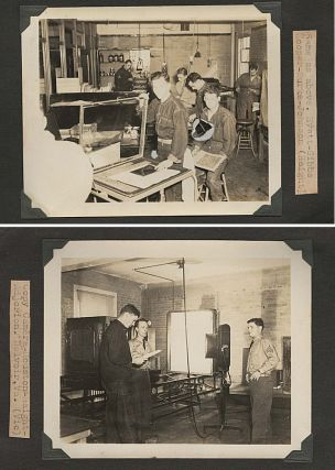 Photograph album-scrapbook kept by a pre-World War Two combat engineer-photographic technician documenting his training at Fort Belvoir