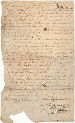 "A bond requiring a white man to appear in court on the charge that he furnished ""spirituous..."