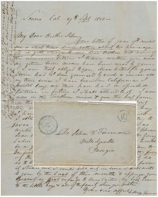 Gold rush letter from a farmer who found there was more money in growing hay than mining for...