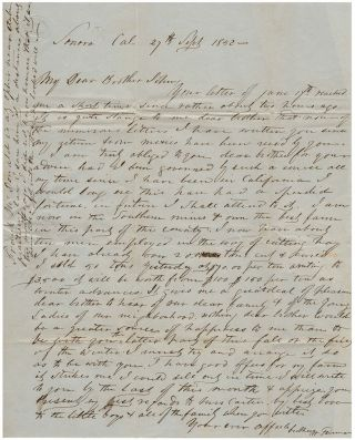 Gold rush letter from a farmer who found there was more money in growing hay than mining for gold