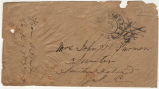 A stampless cover from an officer in the 57th Georgia Infantry Regiment posted at Vicksburg,...