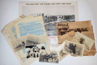 Small archive of material related to the only capture and destruction of a German U-Boat during...