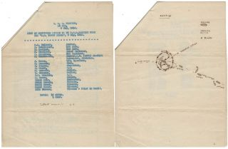 ARCHIVE RELATING TO THE CAPTURE OF A WORLD WAR ONE GERMAN SUBMARINE BY THE U.S. NAVY