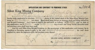 Small archive of materials related to the Silver King Mine
