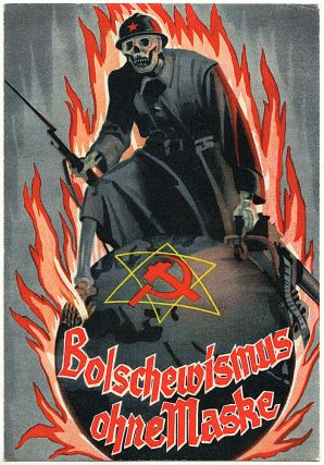 An official postcard from the 1939 Grosse antibolischewistische Aussellung (Great anti-Bolshevik...