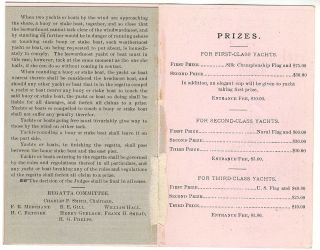 Invitation to participate in the Cleveland Yachting Association 1880 Inter-Lake Regatta