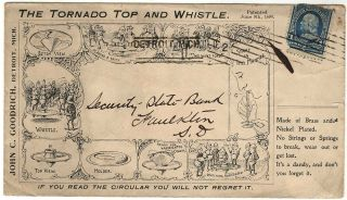 All-over illustrated advertising cover for The Tornado Top and Whistle featuring Palmer Cox's...