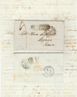 Letter from Ebenezer Stevens & Sons, a New York firm, to Messrs Otard Dupuy, one of the most...