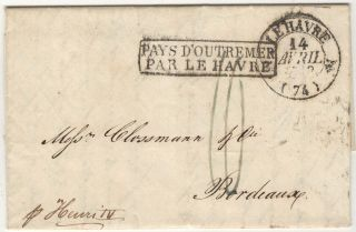 Letter from Frederic de Graft, a Baltimor Merchant, to Mess. Clossmann, a wine merchant in Bordeaux