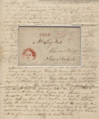 Letter from an American in Liverpool describing his efforts to prevent an Englishman from...