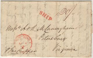 Letter discussing the prospect of selling tobacco in England from a business colleague in Liverpool to a pair of brothers in the United States who were trading merchants in Petersburg, Virginia and owned a huge tobacco plantation in North Carolina