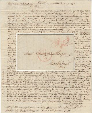 Letter from a Marblehead, Massachusetts merchant in Spain informing his family at home of the...