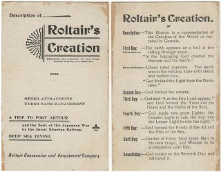 Advertising card and stereoview for Roltair's Creation, one of the most elaborate attraction at...