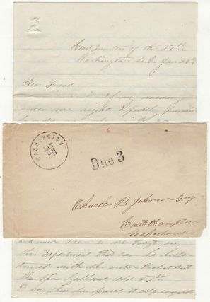 Letter from a Lieutenant in the 27th Massachusetts Infantry while encamped at Washington, North...