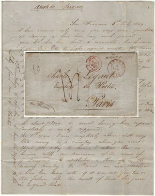 Letter from a French ship captain to his male lover in Paris explaining that he had chartered his...