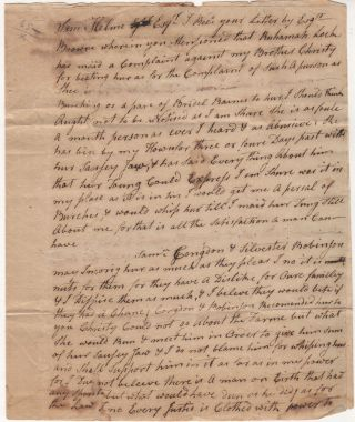 """An astonishing (by today's standards) 18th century letter from the Deputy Governor of Rhode Island regarding the whipping of a """"sausey jawed"""" woman"""