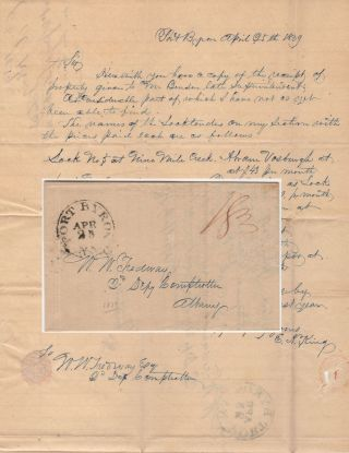 Letter from a Superintendent of Repair on the Erie Canal to the Deputy Comptroller of New York...