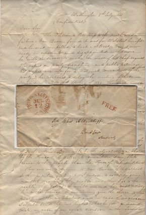 An autograph letter signed by Duff Green, a former President Jackson loyalist who had abandoned...
