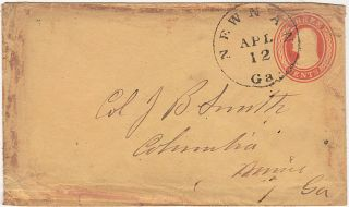 Confederate letter on U.S. postal stationery written on 11 April 1861 accurately predicting the Civil War would begin the following day in Charleston harbor