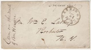 Civil War prisoner's mail from Congressman Alfred Ely while held prisoner at Ligon's Prison...