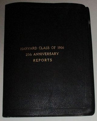 A comprehensive scrapbook-photo album documenting the 25th Reunion of Harvard University's...