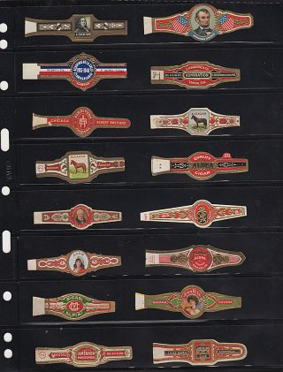 Mid-20th century collection of cigar bands, many from Cuba. Richard Downes