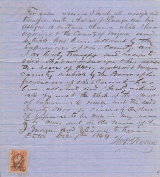 Civil War documents related to the compensation of a Union officer who returned home to raise two...
