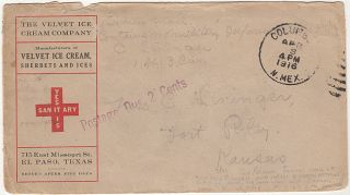 """Four rare """"pioneer airmail"""" letters sent by an officer assigned to the 13th U.S. Cavalry Regiment during the General Pershing's Pancho Villa Punitive Expedition from within Mexico to his wife at Fort Riley, Kansas"""