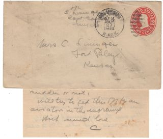Archive of an officer's rare airmail letters sent during the Pancho Villa Expedition