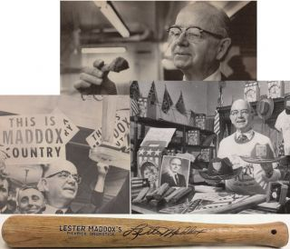 Small group of items relating to Lester Maddox, his Pickrick Restaurant, Underground Atlanta, and...