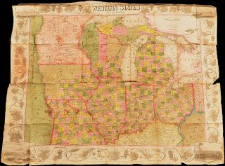 Pocket travel map in cover: Map of the Western States. John M. Atwood