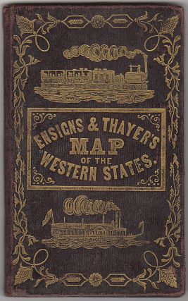 Pocket travel map in cover: Map of the Western States