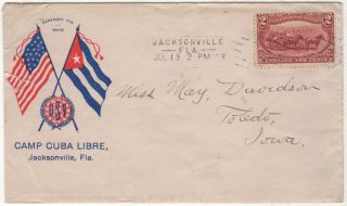 A flirty letter from a volunteer hospital corps soldier using patriotic stationery to a young woman back home in Iowa