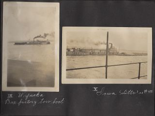 Photograph album documenting steamship life upon the Mississippi River during the 1920s