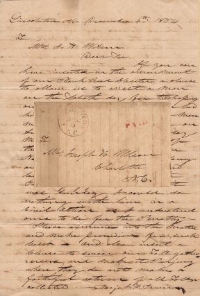 A manuscript letter of petition from chairman of the Lincoln County Western Plank Road requesting...